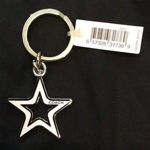 Coach Enamel Star Keychain. NWT